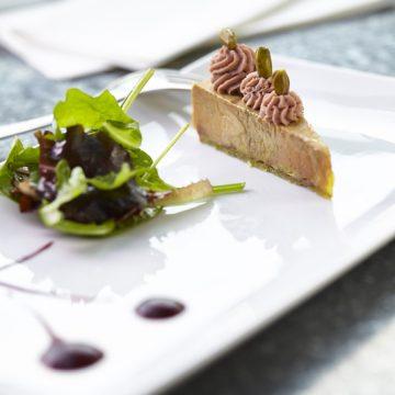 Foie gras mi-cuit de Vendée, avec crème de cerise